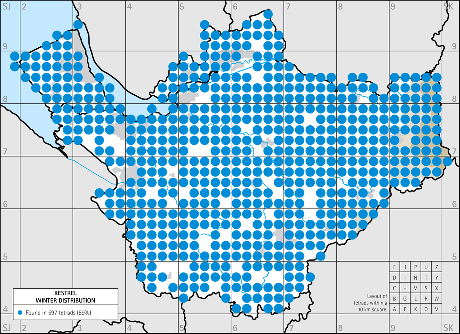 Winter distribution map